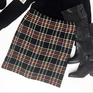 Talbots EUC Classic Plaid Wool Skirt Size 10P